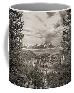 Snake River Overlook Grand Teton Monochromatic Coffee Mug