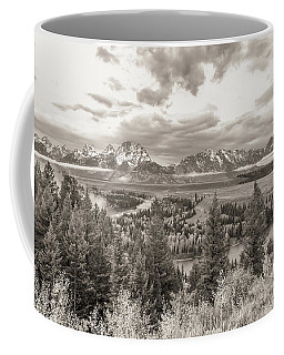 Coffee Mug featuring the photograph Snake River Overlook Grand Teton by Scott McGuire