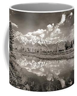 Snake River Reflection Grand Teton Monochromatic Coffee Mug