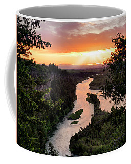 Snake River Sunset Coffee Mug by Leland D Howard