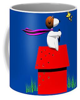 Snoopy Evades The Red Baron Coffee Mug