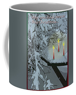 Snow And Candlelight Coffee Mug