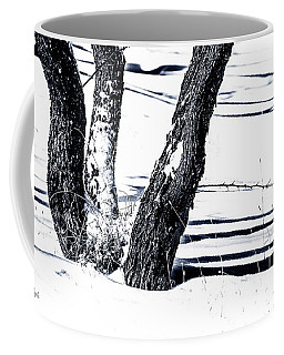 Snow And Shadows Coffee Mug by Karen Slagle