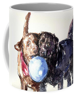 Coffee Mug featuring the painting Snow Ball by Molly Poole