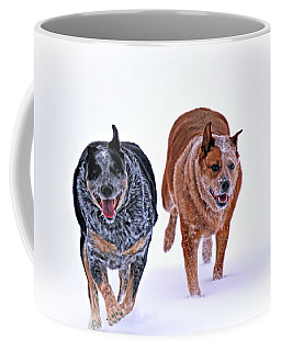 Snow Buddies Coffee Mug by Elizabeth Winter