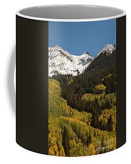 Snow Cap And Aspens Coffee Mug