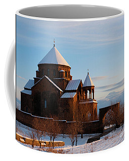 Snow Capped St. Hripsipe Church At Winter, Armenia Coffee Mug