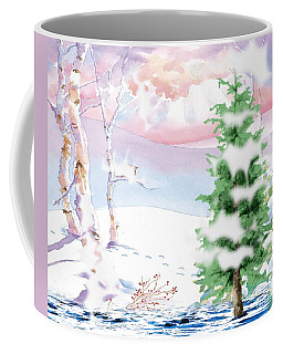 Snow Capped Trees Coffee Mug
