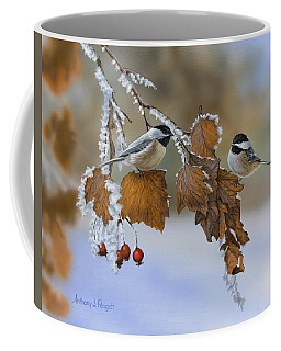 Snow Chickadees Coffee Mug