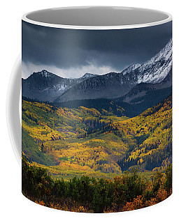 Snow Clouds Over Kebler Pass Coffee Mug