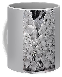 Coffee Mug featuring the photograph Snow Coat by Alex Grichenko