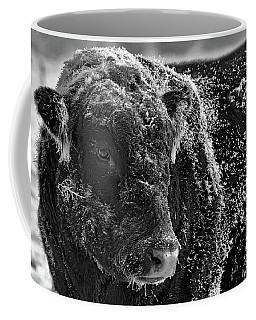 Snow Covered Ice Bull Coffee Mug