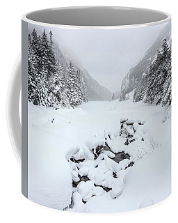 Coffee Mug featuring the photograph Snow Covered Lake by Brad Wenskoski