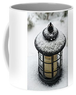 Snow Covered Lamp Coffee Mug
