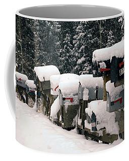 Snow Covered Mailboxes Coffee Mug
