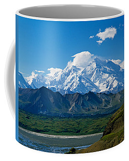 Snow-covered Mount Mckinley, Blue Sky Coffee Mug