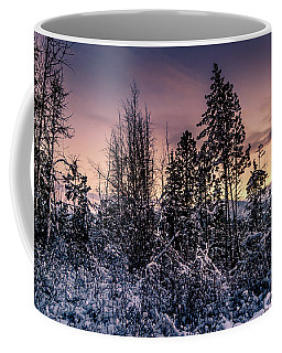 Snow Covered Pine Trees Coffee Mug
