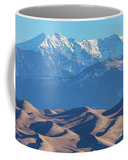 Snow Covered Rocky Mountain Peaks With Sand Dunes Coffee Mug by James BO Insogna