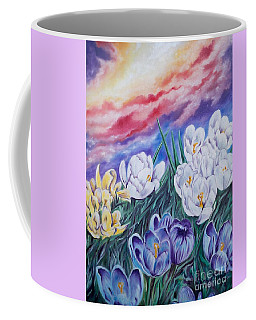 Snow Crocus Coffee Mug