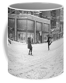 Coffee Mug featuring the photograph Snow Dance - Le - 10 X 16 by Dave Beckerman