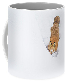 Coffee Mug featuring the photograph Snow-diving Fox  by Mircea Costina Photography