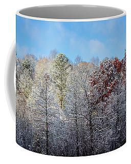 Coffee Mug featuring the photograph Snow Dust by Randy Bayne