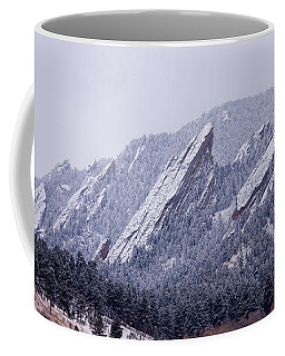 Snow Dusted Flatirons Boulder Colorado Coffee Mug