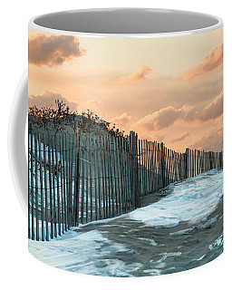 Coffee Mug featuring the photograph Snow Fence by Robin-Lee Vieira