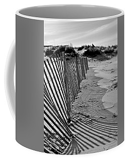 Coffee Mug featuring the photograph Snow Fence by SimplyCMB