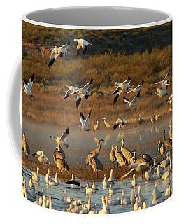 Snow Geese And Sandhills Coffee Mug
