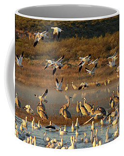 Snow Geese And Sandhills Coffee Mug
