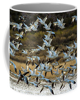 Snow Geese Flock In Flight Coffee Mug