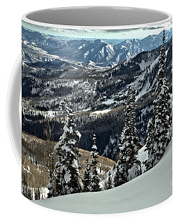 Snow Ghosts And Mountain Ranges Coffee Mug