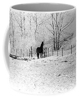 Snow Horse Coffee Mug
