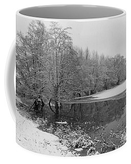 Coffee Mug featuring the photograph Snow In Bow by Karen Molenaar Terrell