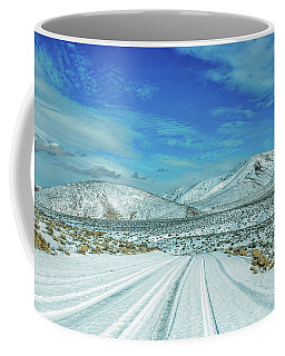 Coffee Mug featuring the photograph Snow In Death Valley by Peter Tellone