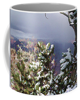 Snow In The Canyon Coffee Mug