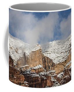 Coffee Mug featuring the photograph Snow Kissed Morning In Sedona, Az by Sandra Bronstein