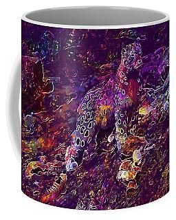 Coffee Mug featuring the digital art Snow Leopard Cat Animals  by PixBreak Art