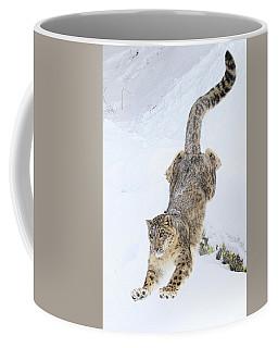 Snow Leopard Downhill Coffee Mug
