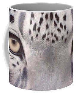 Snow Leopard Eyes Painting Coffee Mug