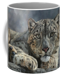 Snow Leopard Portrait Coffee Mug