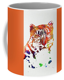 Snow Leopard Wild Animals Of The World Watercolor Series On White Canvas 010 Coffee Mug