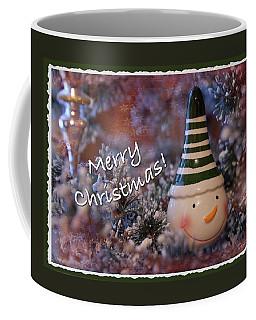 Snow Man Smile Coffee Mug by Terri Harper