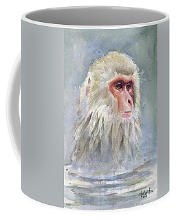 Snow Monkey Taking A Bath Coffee Mug