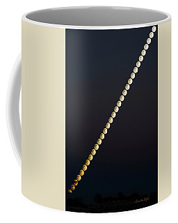 Snow Moon Time Stack Coffee Mug by Karen Slagle