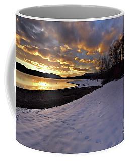 Snow On Beach Coffee Mug