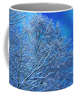 Coffee Mug featuring the photograph Snow On Branches Photo Art by Sharon Talson
