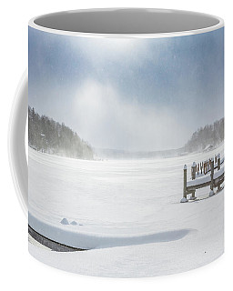 Snow On Lake Charlevoix Coffee Mug