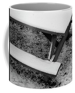 Snow On Picnic Table Coffee Mug